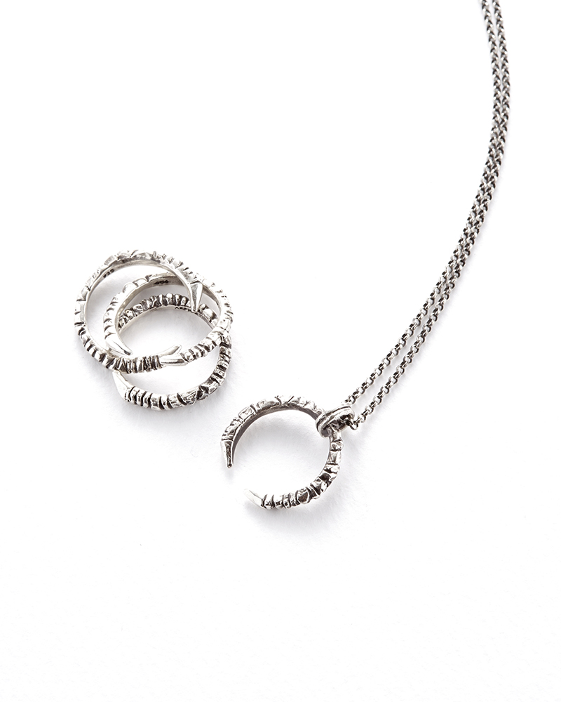 C CURL NECKLACE