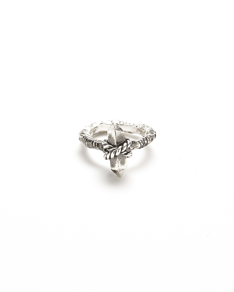 SILVER CRISTAL RING